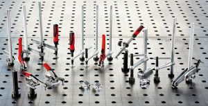 Experience to the table: BESSEY clamping elements for welding tables TW