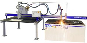 ZINSER 1211 - cantilever machine for oxygene- and plasma cutting