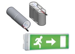 Batteries for emergency lighting