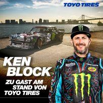 2. Autogrammstunde und Live-Interview von Ken Block am Stand von Toyo Tires