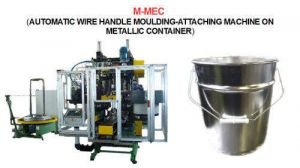 N MEC 630 (Automatic wire handle moulding-attaching machine  on metallic or plastic cans)