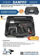 05-APR12108-1M18V   SANPRO Akku Pressmaschine REGULAR 12 - 108 mm + L-BOXX + Milwaukee M 18V / 4Ah