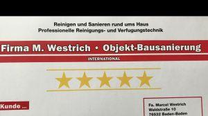 M. Westrich  —  Pflaster—Reinigung-Imprägnierung-Verfugung