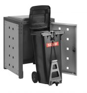 Mülltonnenboxen Vario mit dem patentierten Easy-Rollout-System