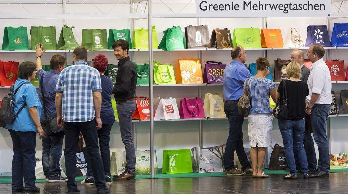 Auf der MARKT MOBIL präsentiert Greenie nachhaltige Mehrwegtaschen