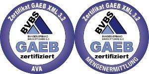 AVA.relax erhält GAEB Zertifizierung DA XML 3.2 für AVA und Mengenermittlung