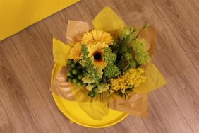 Bouquet cover Square kraft + non-woven
