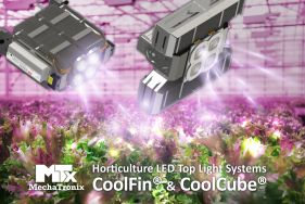 CoolFin® & CoolCube® - Full Passive Horticulture LED Top Light Systems up to 2000µmol/s