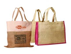 Shopping bags made from jute/linen cloth
