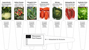 Labels for vegetables in small units
