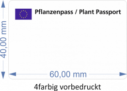 Pflanzenpass-Etiketten