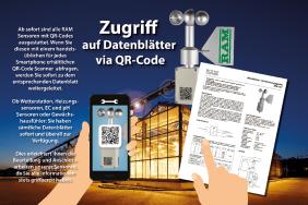 RAM Sensoren mit QR-Codes ausgestattet