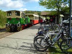 3 Mit dem Zug 400 Höhenmeter bergauf – mit dem Rad rollen Sie wieder bergab!