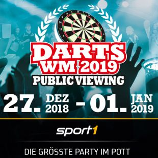 Public Viewing der Darts-WM